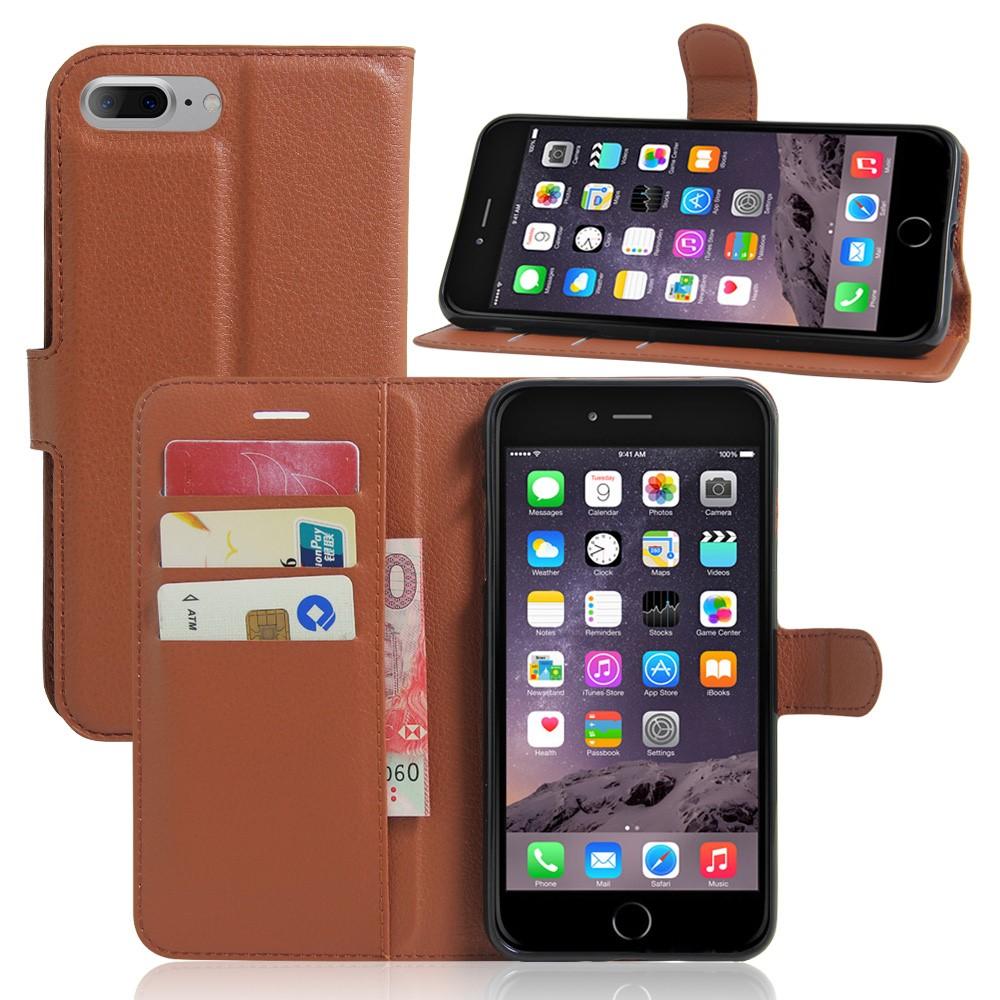 Image of   Apple iPhone 7/8 Plus PU læder FlipCover m. Pung - Brun