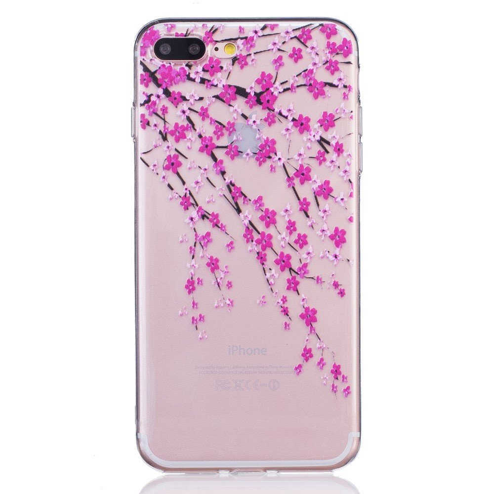 Image of   Apple iPhone 7/8 Plus InCover TPU Cover - Lyserøde blomster