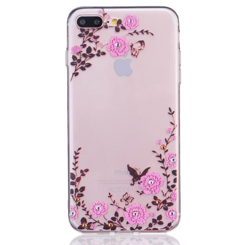 Image of   Apple iPhone 7/8 Plus InCover TPU Cover - Blomster og sommerfugle