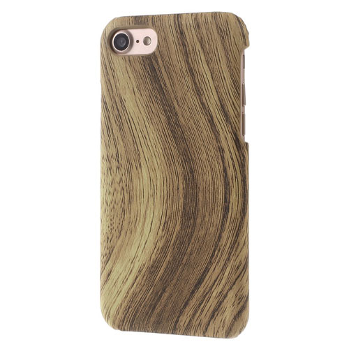 Image of   Apple iPhone 7/8 PU læder Cover - Brun Træ