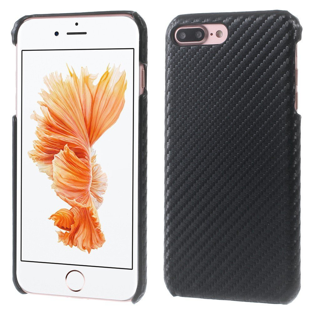 Billede af Apple iPhone 7/8 Plus InCover PU læder Cover - Sort Carbon
