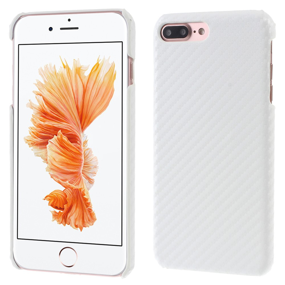 Image of   Apple iPhone 7/8 Plus InCover PU læder Cover - Hvid Carbon