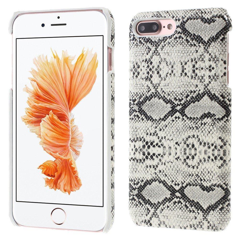 Image of   Apple iPhone 7/8 Plus PU læder Cover - Hvid Slange