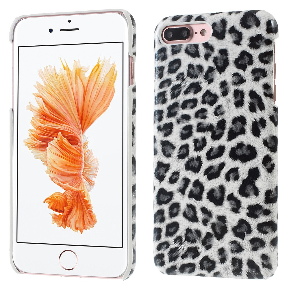Image of   Apple iPhone 7/8 Plus InCover PU læder Cover - Hvid leopard