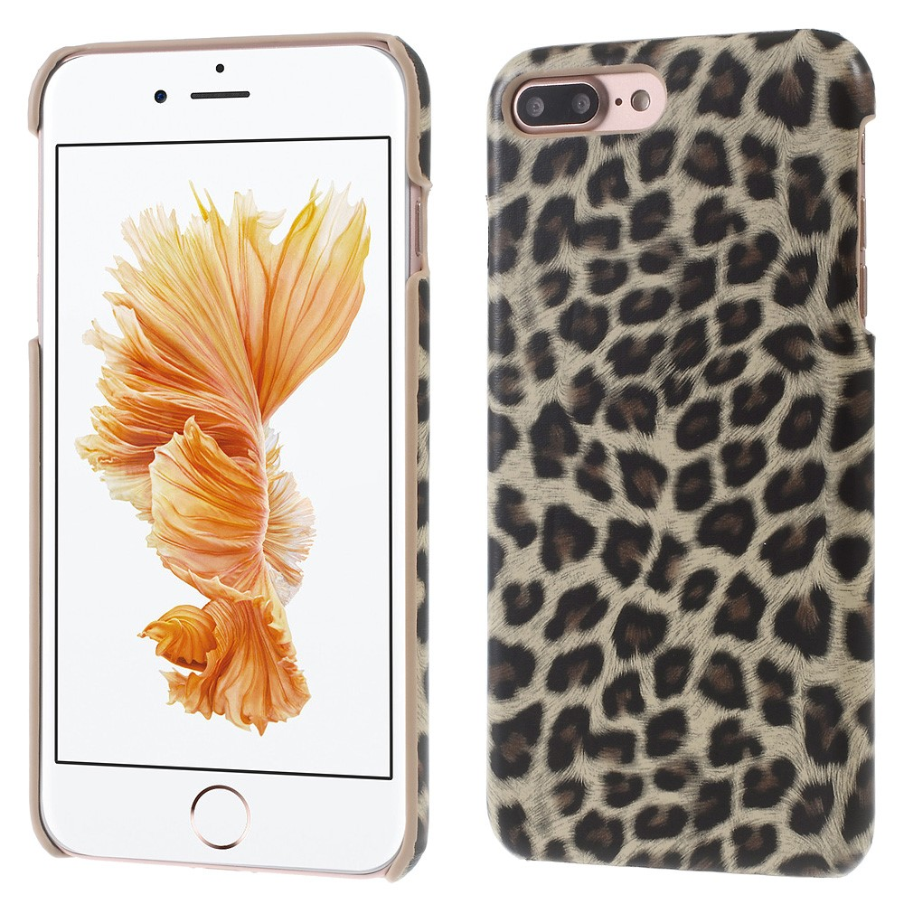 Image of   Apple iPhone 7/8 Plus InCover PU læder Cover - Brun leopard