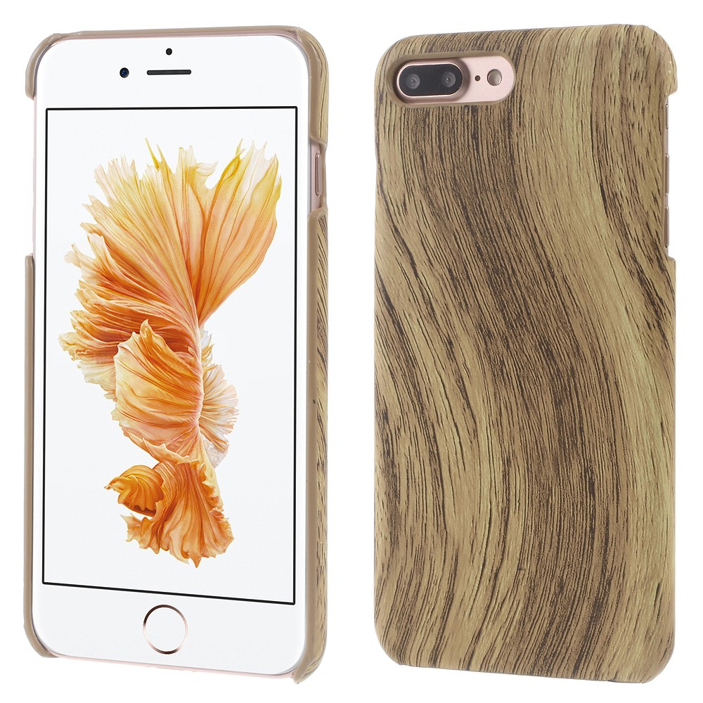 Image of   Apple iPhone 7/8 Plus InCover PU læder Cover - Brun Træ