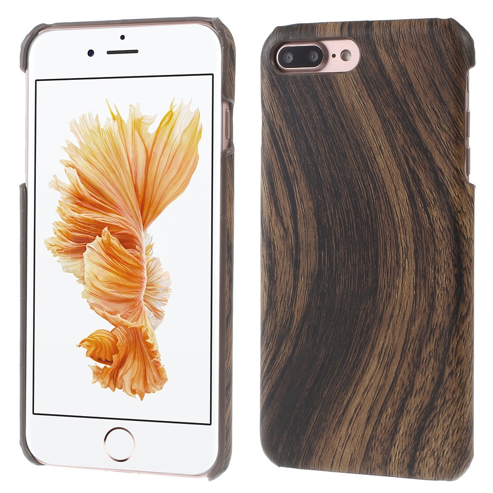 Image of   Apple iPhone 7/8 Plus InCover PU læder Cover - Coffee Træ