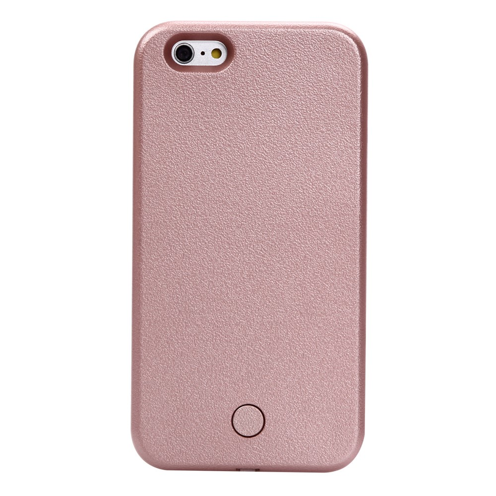 Image of Apple iPhone 6/6s Selfie Cover m. Lys - Rosa/guld