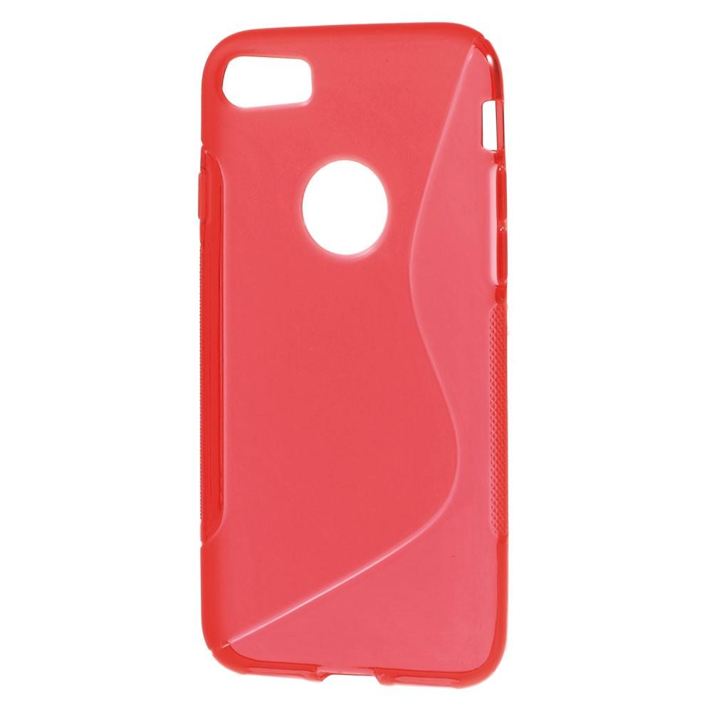 Billede af Apple iPhone 7/8 InCover TPU S shape Cover - Rød