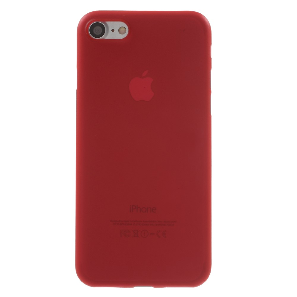 Image of   Apple iPhone 7/8 InCover Ultra Thin Plastik Cover - Rød
