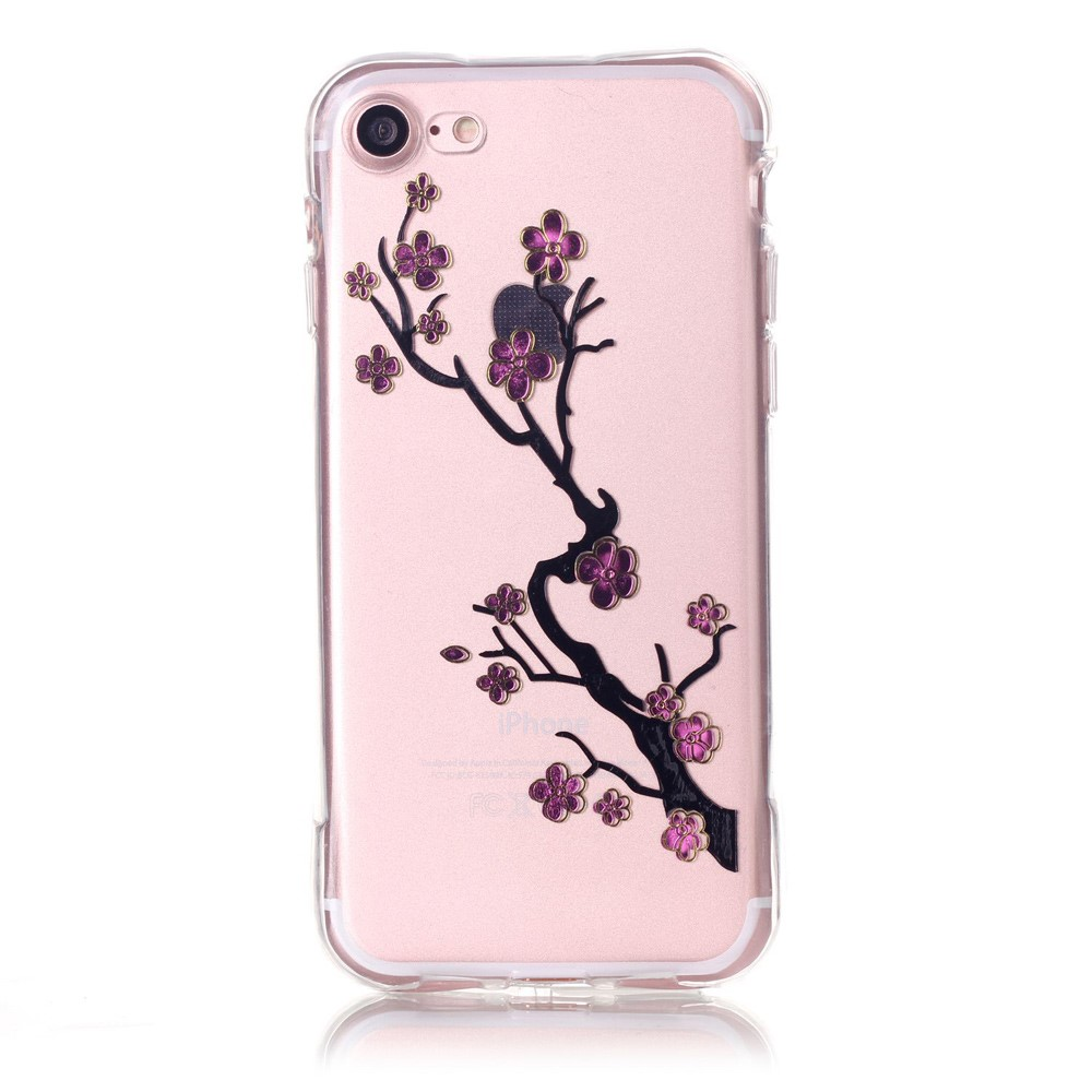 Billede af Apple iPhone 7/8 InCover TPU Cover - Plum Blossom