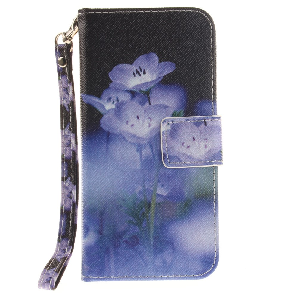 Image of   Apple iPhone 7/8 PU læder FlipCover m. Stand - Blå blomster