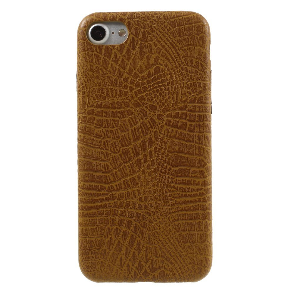 Image of   Apple iPhone 7/8 PU læder Cover - Brun krokodille