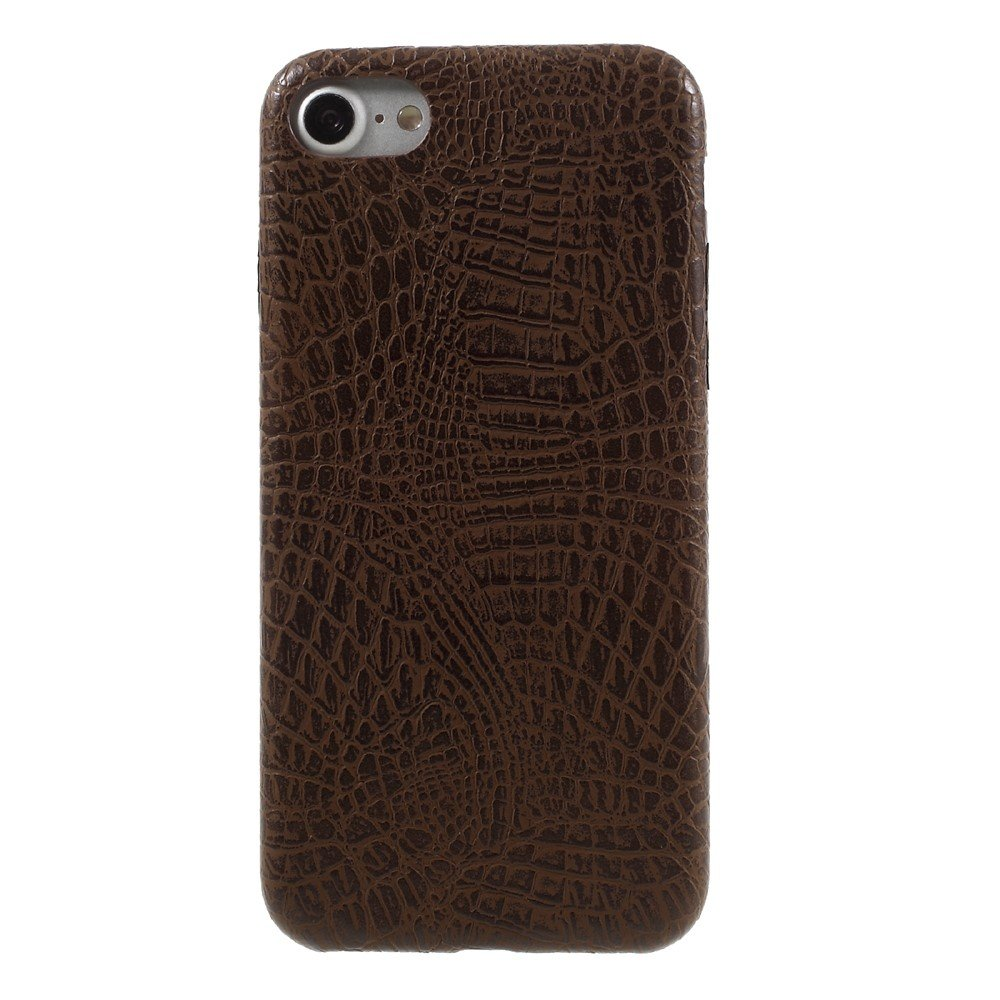 Image of   Apple iPhone 7/8 PU læder Cover - Coffee krokodille