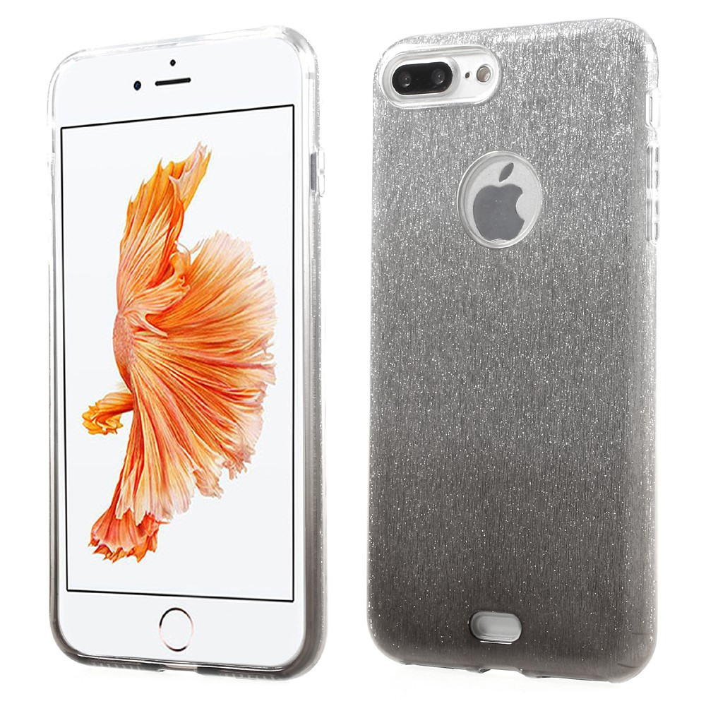 Image of   Apple iPhone 7/8 Plus InCover TPU Cover - Grå/sølv glimmer