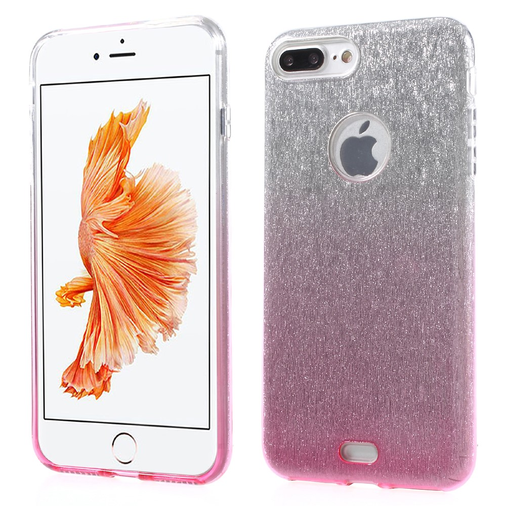 Image of   Apple iPhone 7/8 Plus InCover TPU Cover - Pink/sølv glimmer