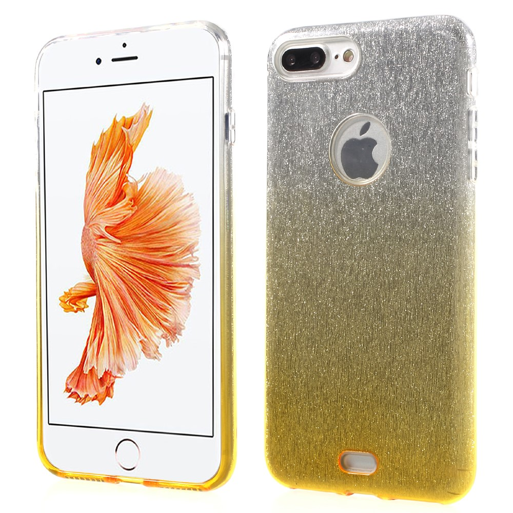 Image of   Apple iPhone 7/8 Plus InCover TPU Cover - Guld/sølv glimmer