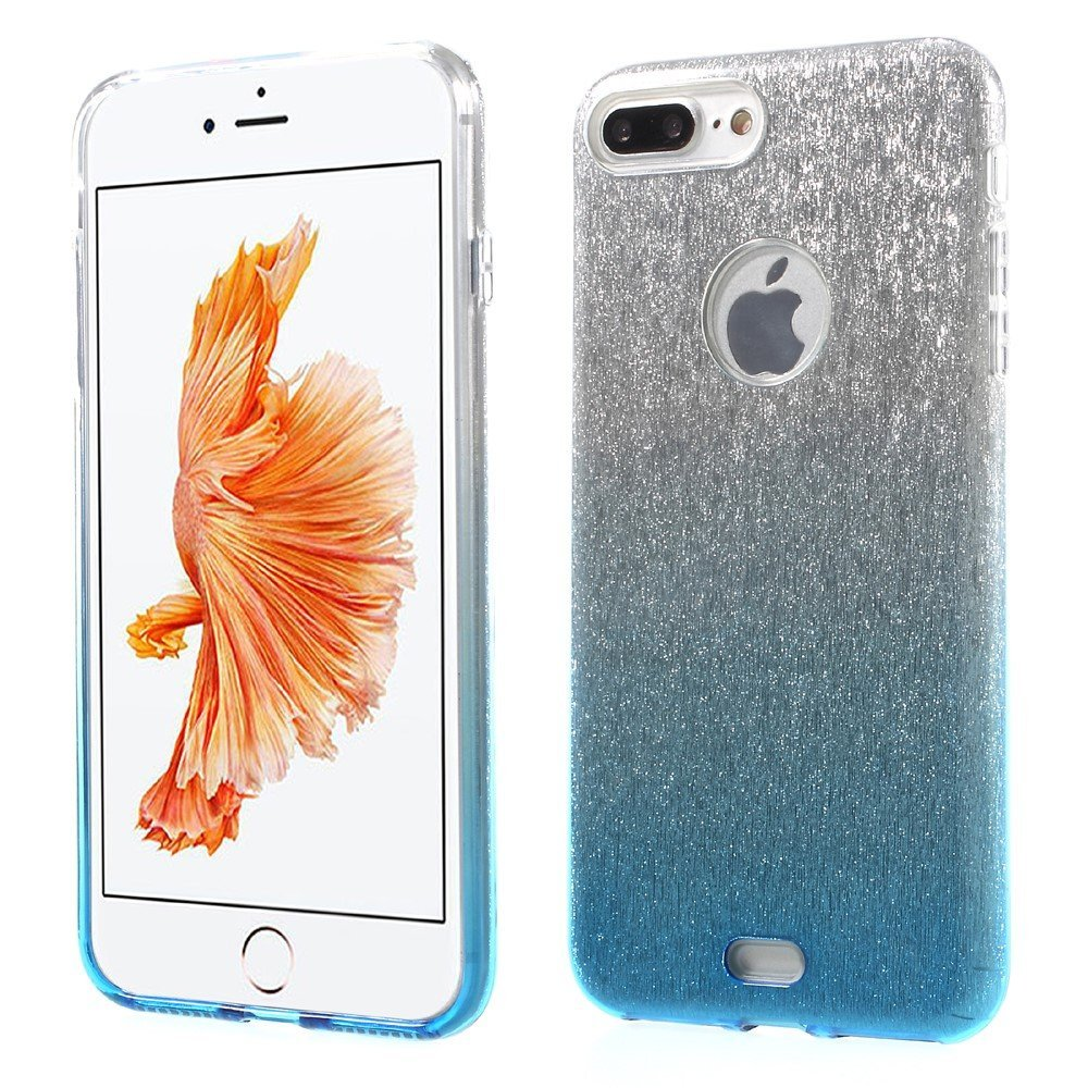 Image of   Apple iPhone 7/8 Plus InCover TPU Cover - Blå/sølv glimmer