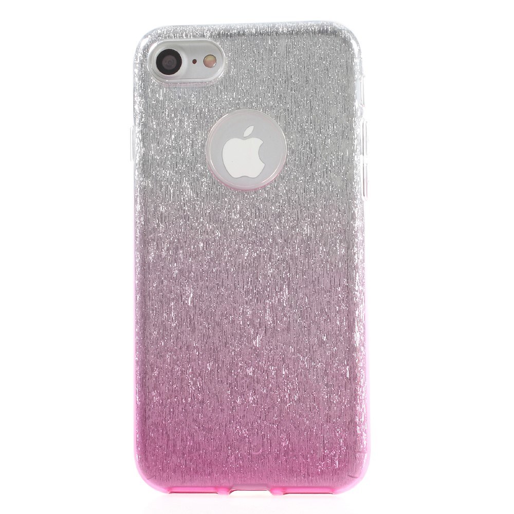 Image of   Apple iPhone 7/8 InCover TPU Cover - Pink/sølv glimmer