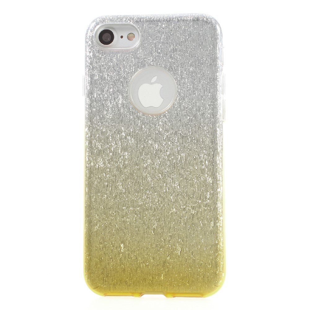 Image of   Apple iPhone 7/8 InCover TPU Cover - Guld/sølv glimmer