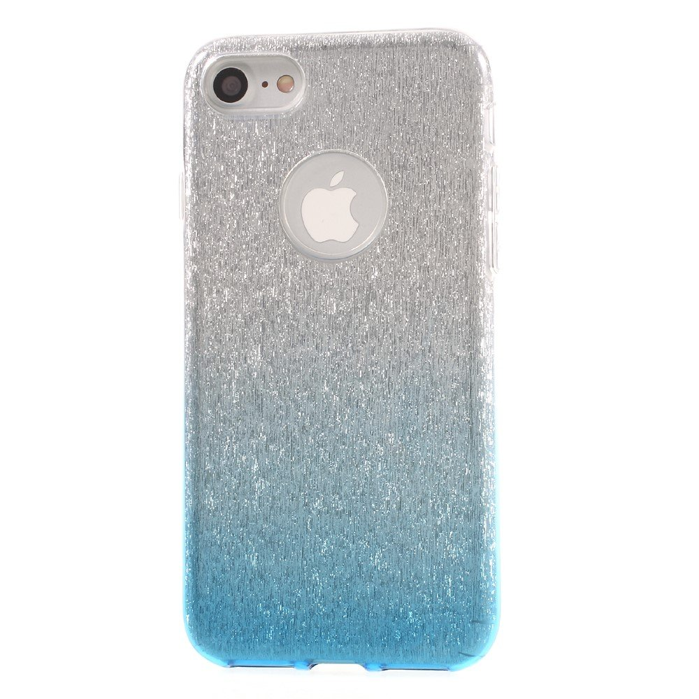 Image of   Apple iPhone 7/8 TPU Cover - Blå/sølv glimmer