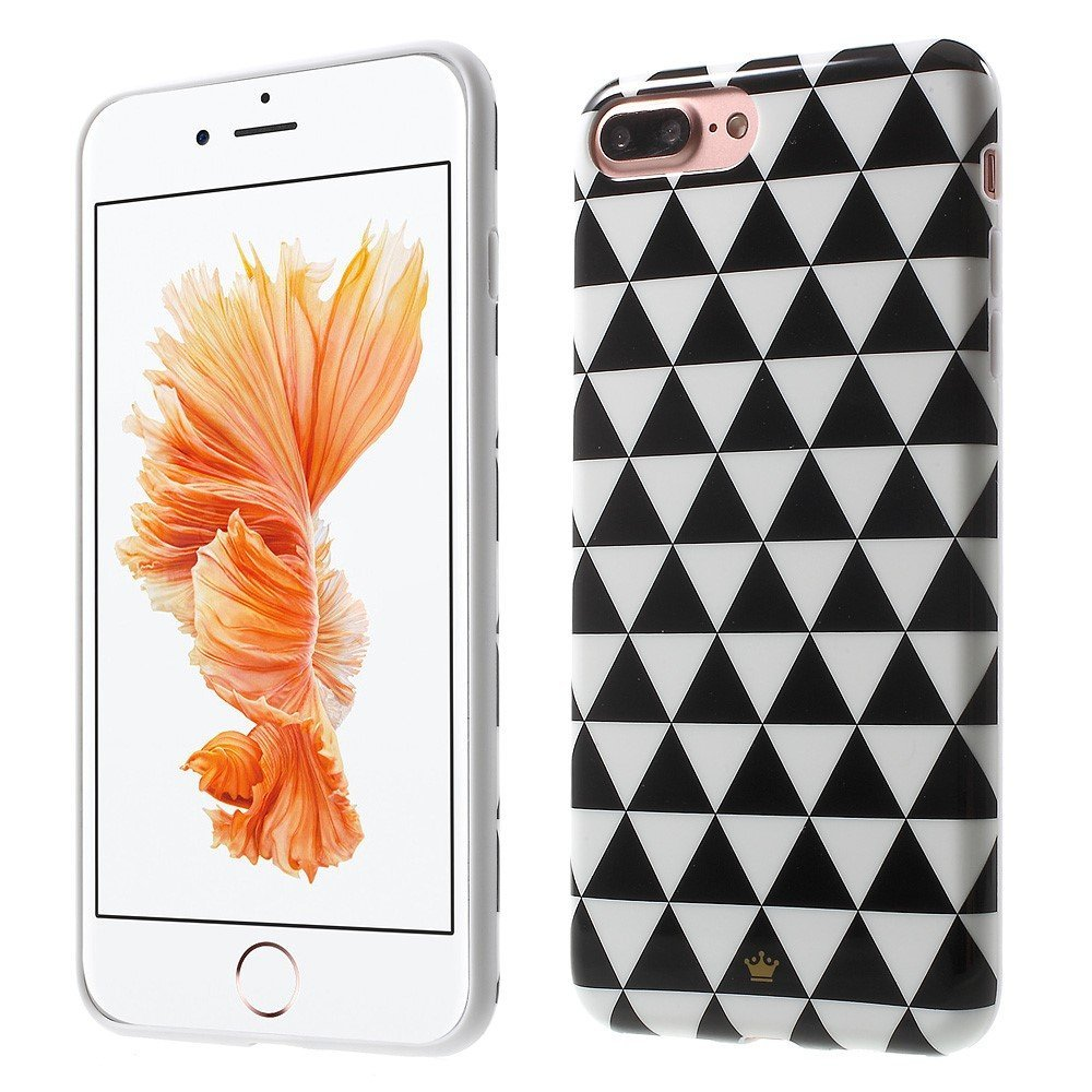Billede af Apple iPhone 7/8 Plus InCover TPU Cover - Black and White Triangles