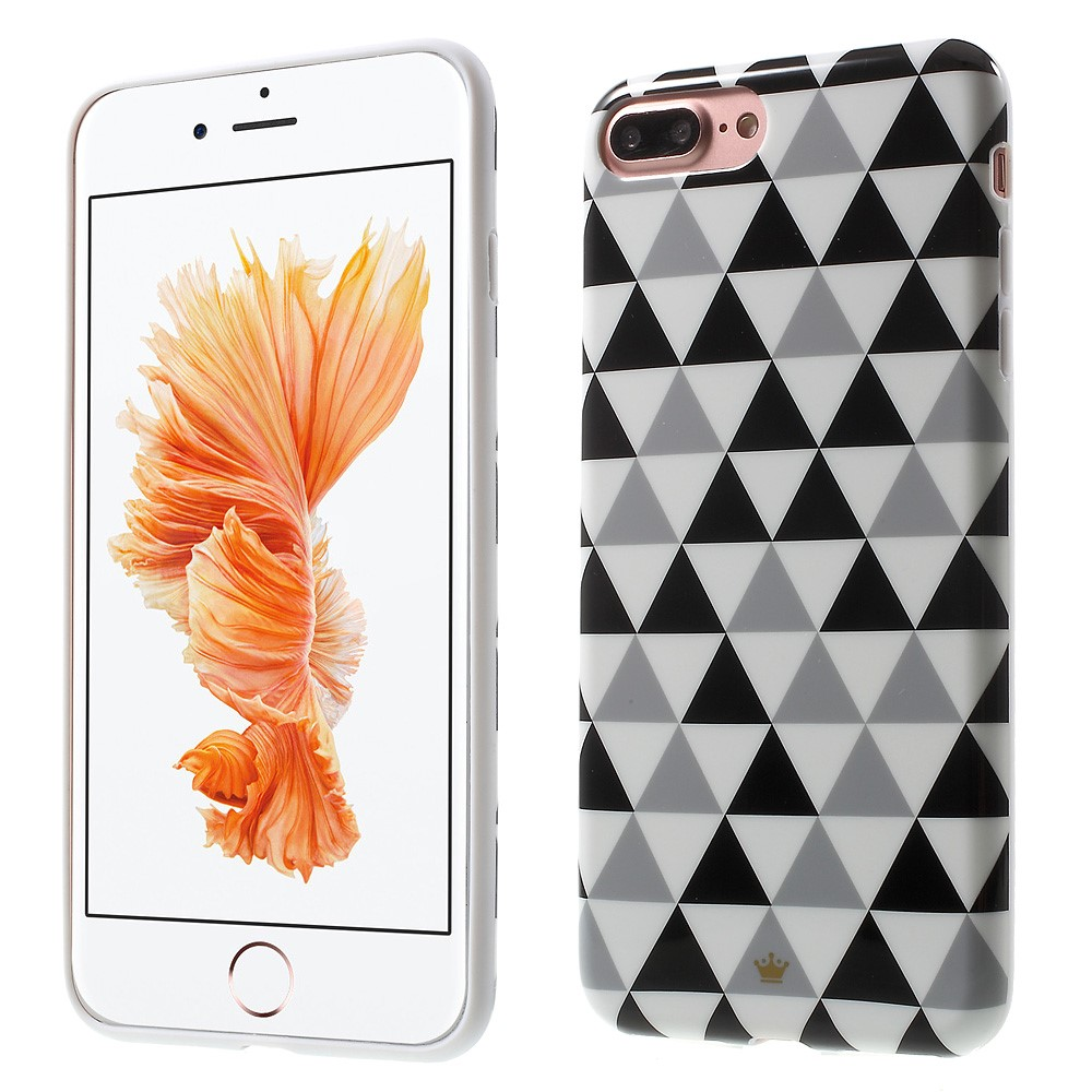 Billede af Apple iPhone 7/8 Plus InCover TPU Cover - Black, White and Grey Triangles