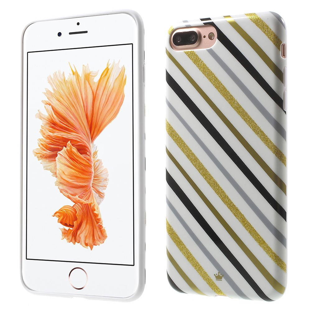 Billede af Apple iPhone 7/8 Plus InCover TPU Cover - Multi Color Stripes