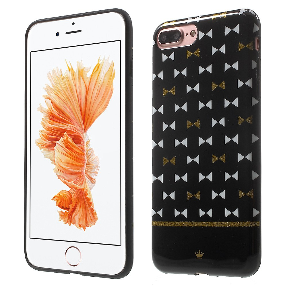 Billede af Apple iPhone 7/8 Plus InCover TPU Cover - White and Gold Bowknots