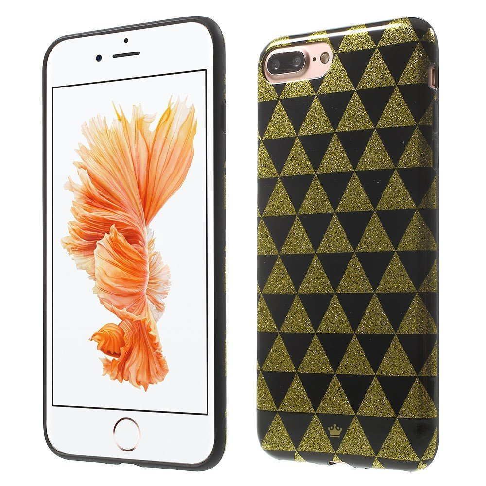Billede af Apple iPhone 7/8 Plus InCover TPU Cover - Black and Gold Triangles
