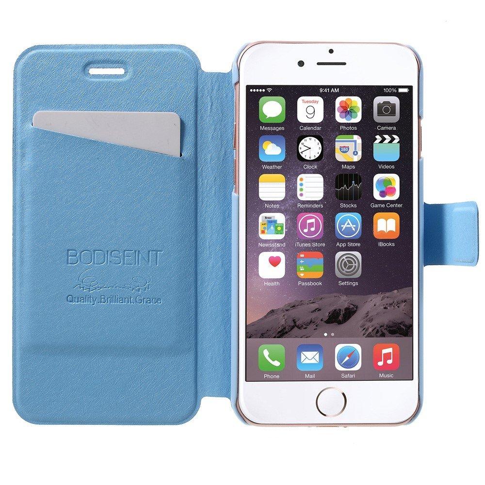 Image of   Apple iPhone 7 Stof FlipCover m. Kortholder - Baby blå
