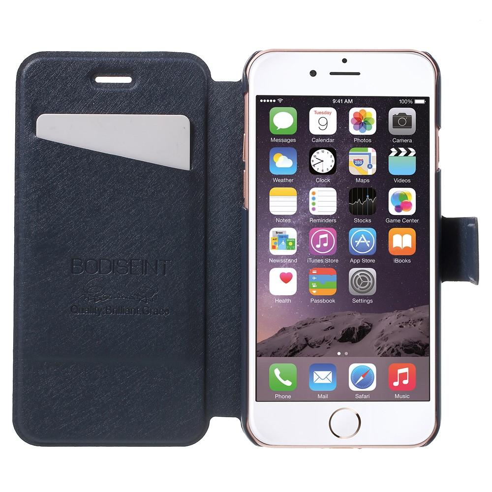 Image of   Apple iPhone 7 Stof FlipCover m. Kortholder - Mørk blå