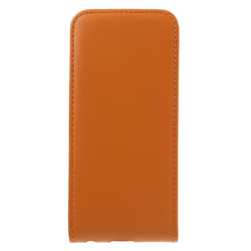Image of   Apple iPhone 7 PU læder Vertikal FlipCover - Orange
