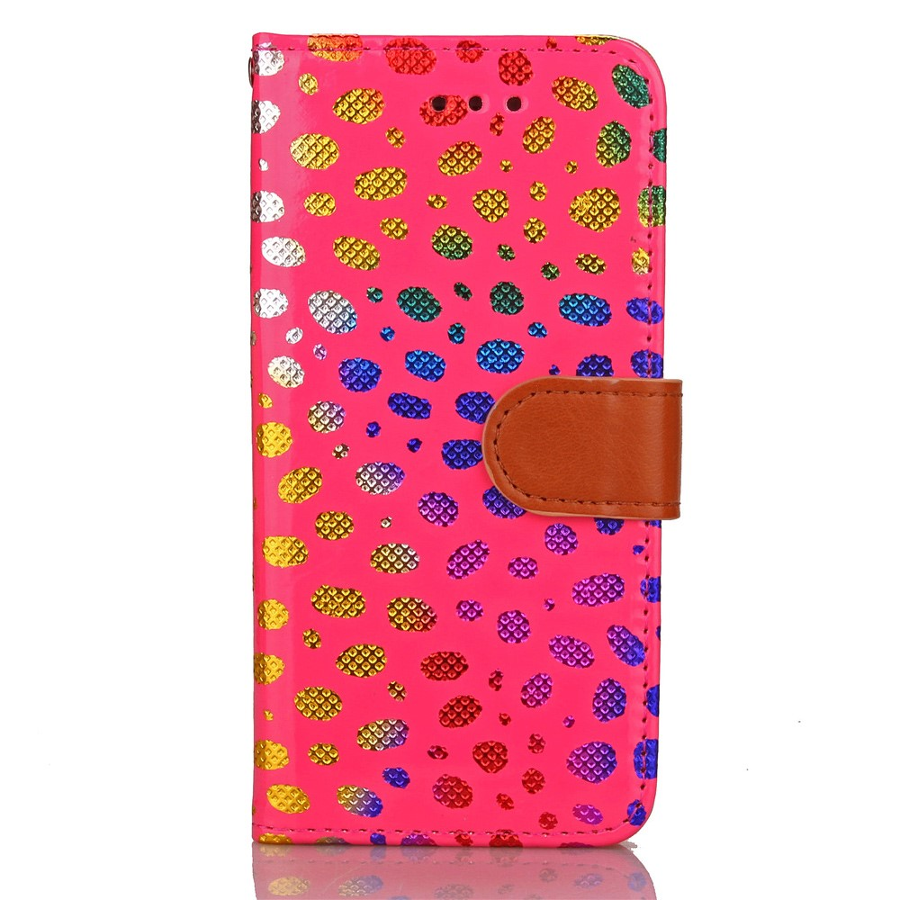 Image of   Apple iPhone 7/8 PU læder FlipCover m. Polka Dots - Pink