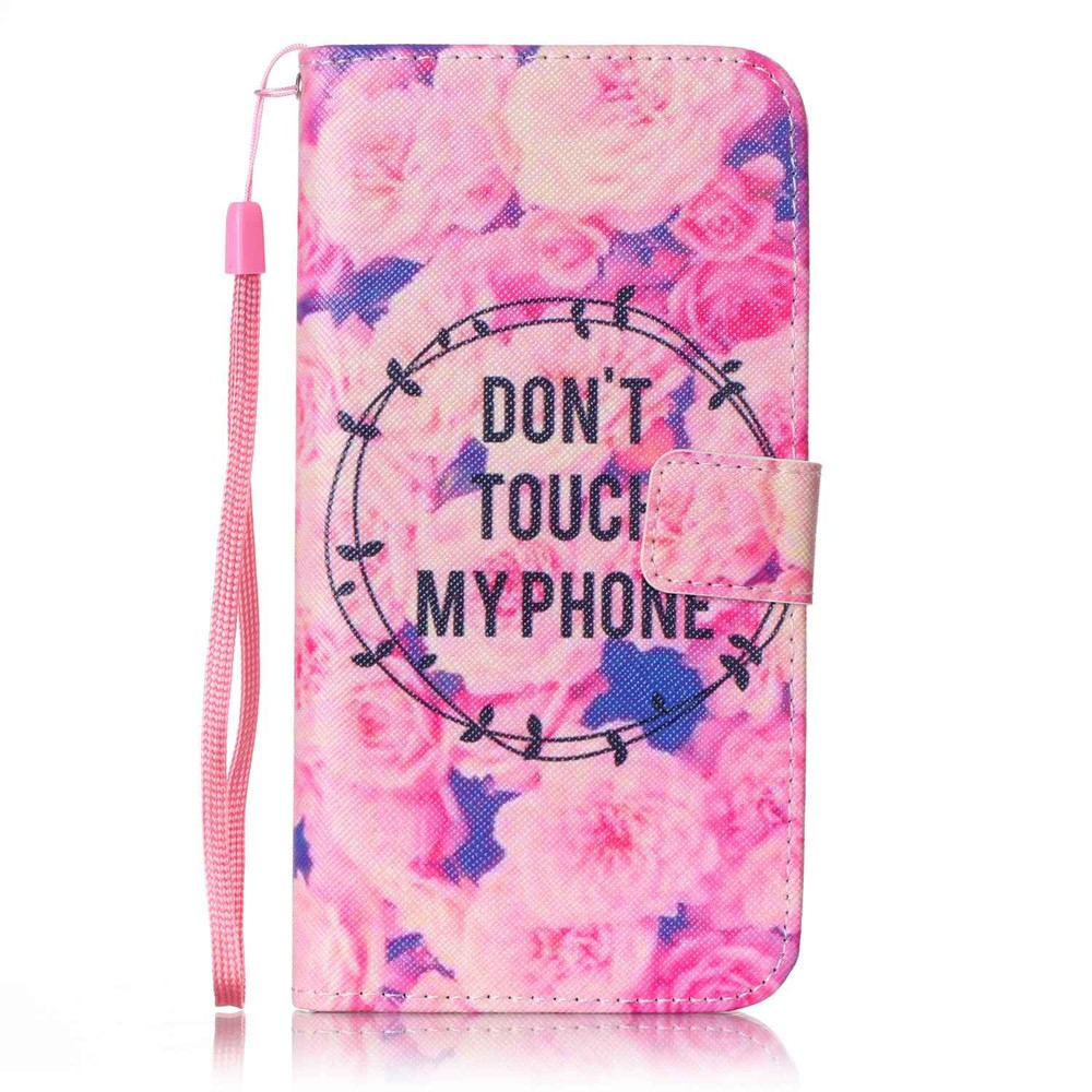 Image of   Apple iPhone 7/8 Plus PU læder FlipCover m. Stand - Dont touch