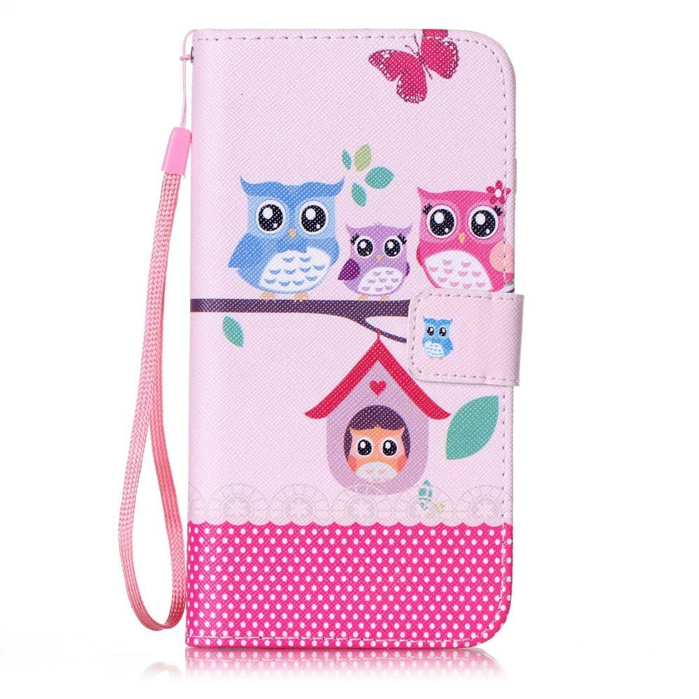 Image of   Apple iPhone 7/8 Plus PU læder FlipCover m. Stand - Ugle familie