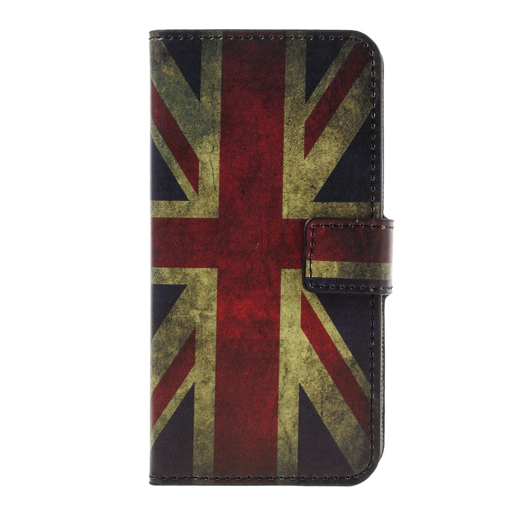Image of   Apple iPhone 7 PU læder FlipCover m. Stand og Kortholder - UK Flag