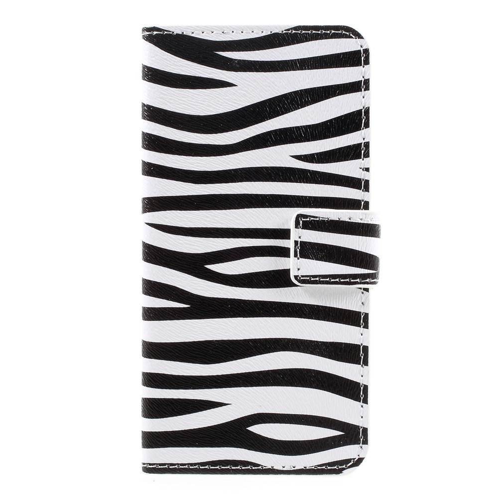 Image of   Apple iPhone 7 PU læder FlipCover m. Stand og Kortholder - Zebra Pattern