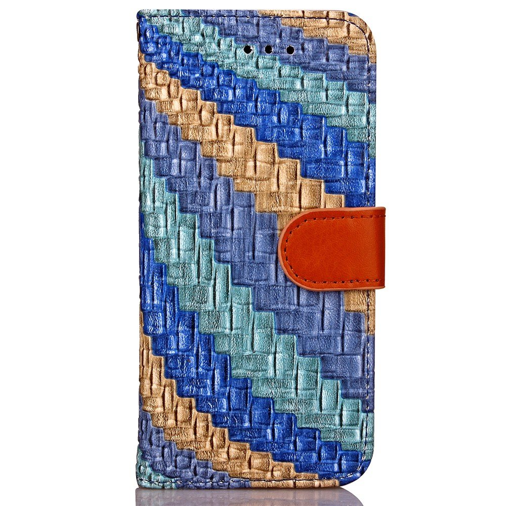 Image of   Apple iPhone 7/8 PU læder FlipCover m. Snoet Mønster - Blå