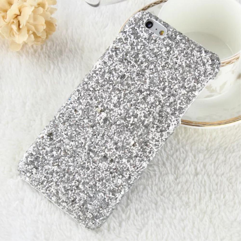 Image of   Apple iPhone 7/8 Bling Plastik Cover m. Glimmer - Sølv