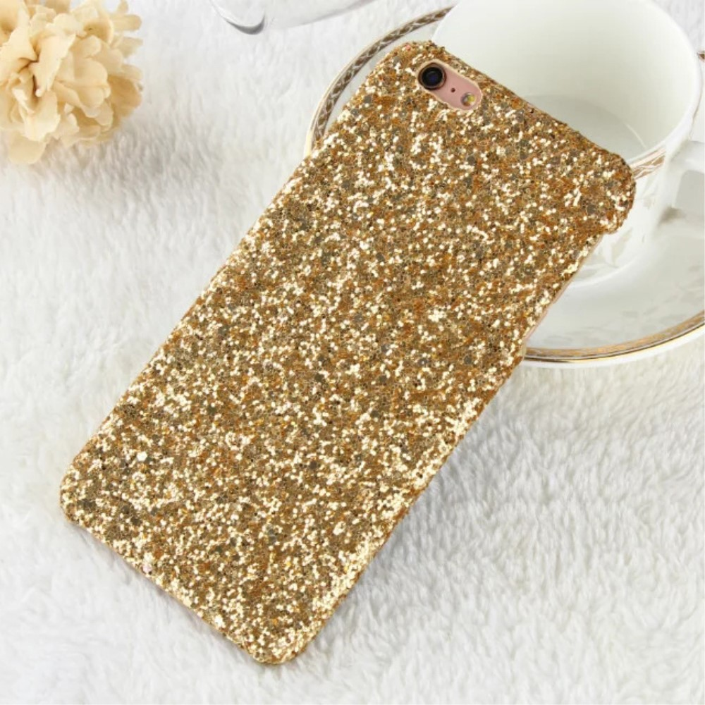 Image of   Apple iPhone 7/8 Bling Plastik Cover m. Glimmer - Guld