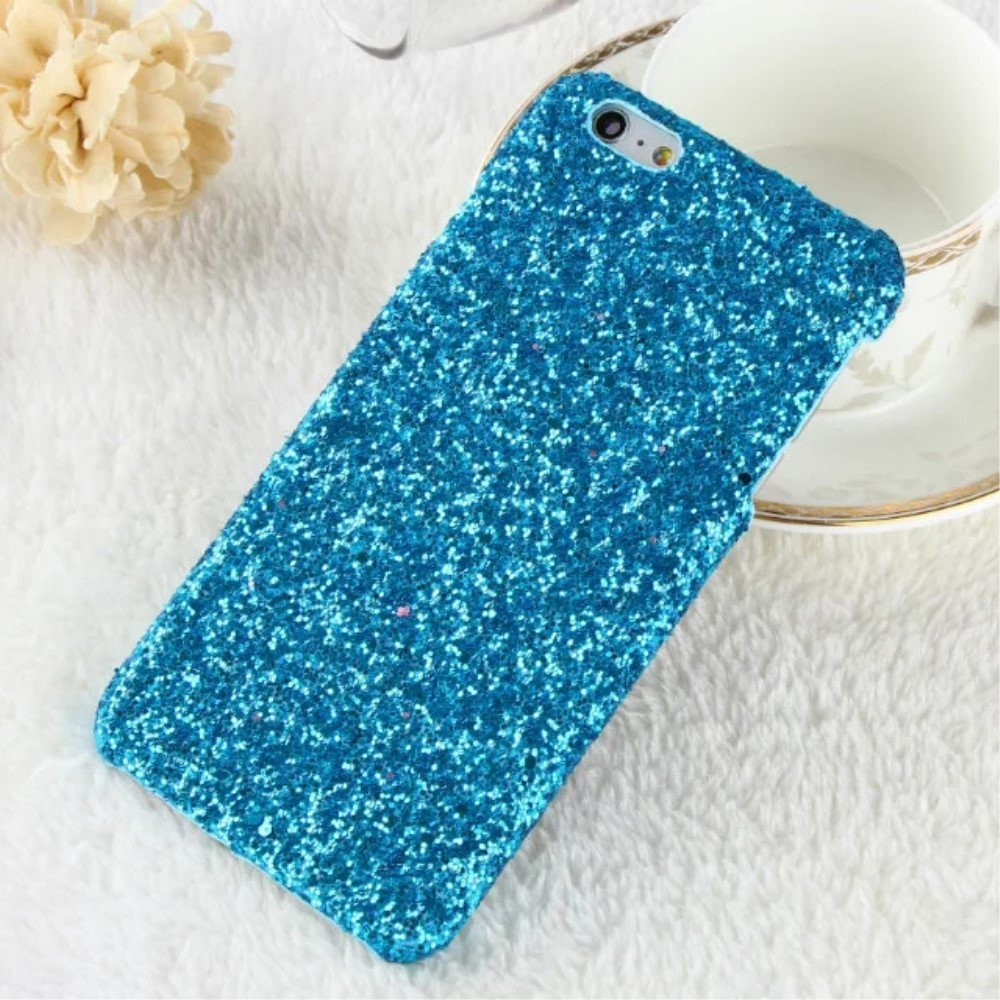Image of   Apple iPhone 7/8 Bling Plastik Cover m. Glimmer - Blå