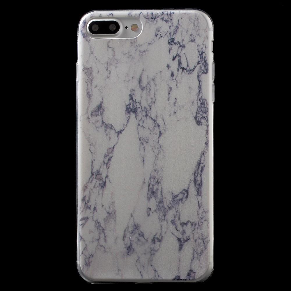 Billede af Apple iPhone 7/8 Plus InCover Premium Marmor TPU Cover - Blå