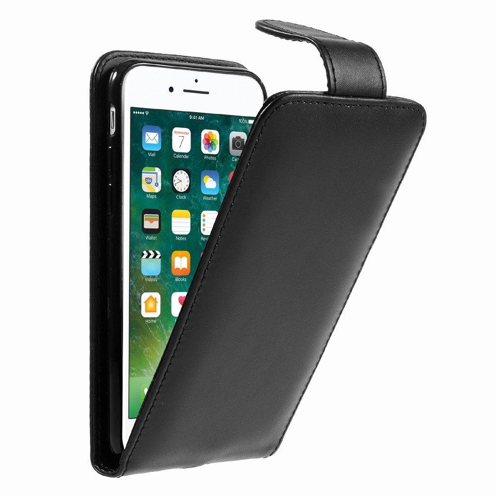 Image of Apple iPhone 8 Premium Vertikal Flip Cover - Sort