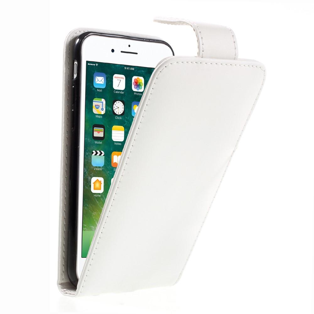Image of Apple iPhone 8 Premium Vertikal Flip Cover - Hvid