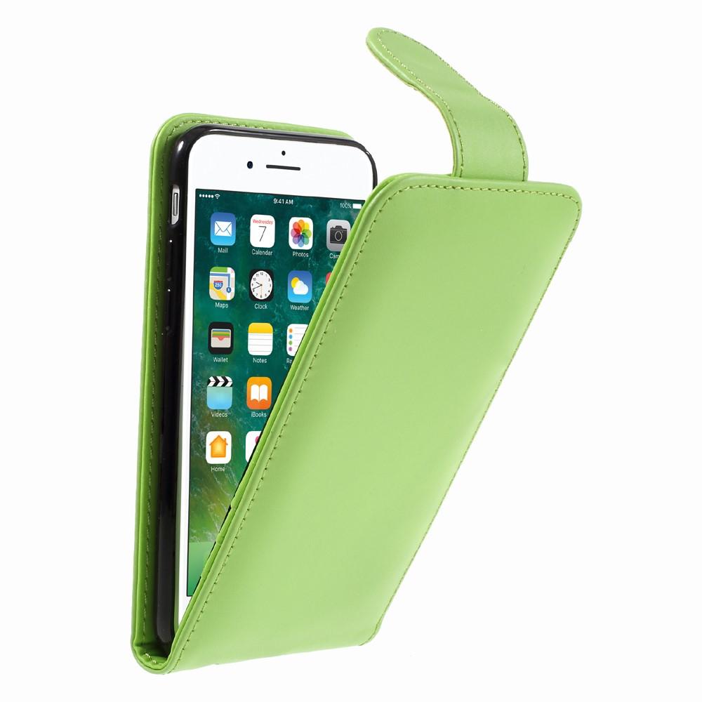 Image of Apple iPhone 8 Premium Vertikal Flip Cover - Grøn