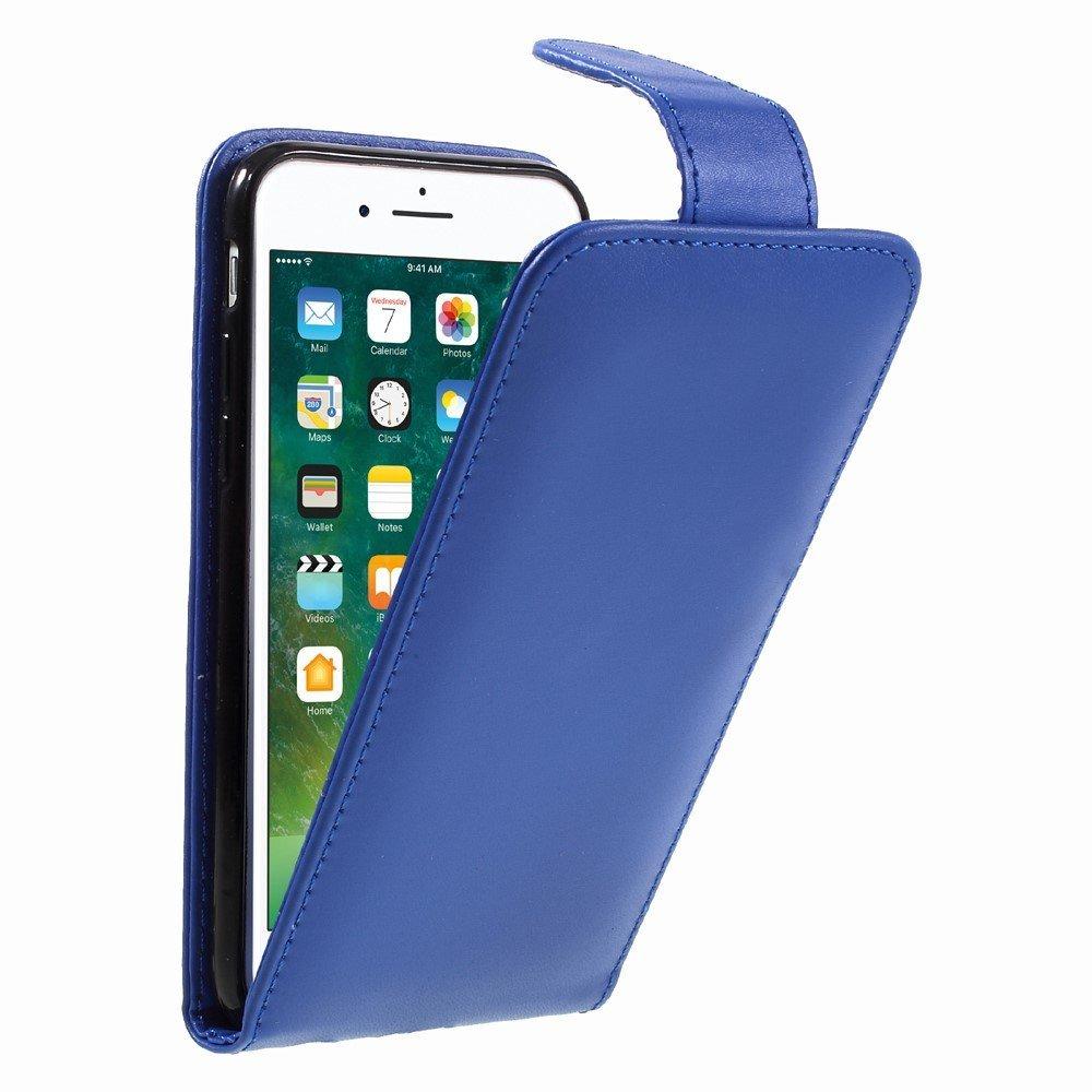 Image of Apple iPhone 8 Premium Vertikal Flip Cover - Blå