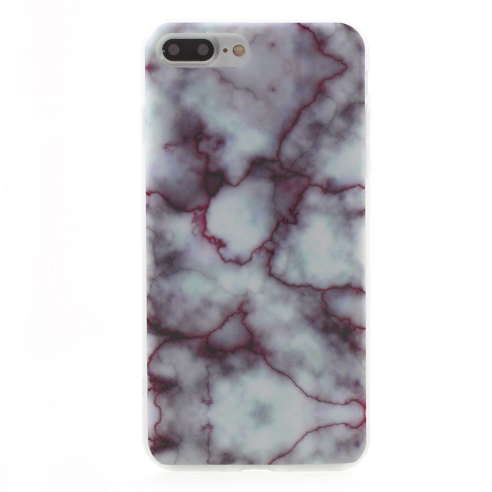 Image of Apple iPhone 7/8 Plus InCover Marmor TPU Cover - Rød