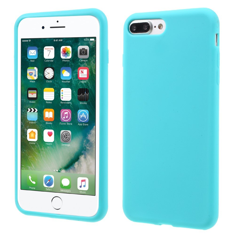 Billede af Apple iPhone 7/8 Plus InCover Silikone Cover - Lys Blå