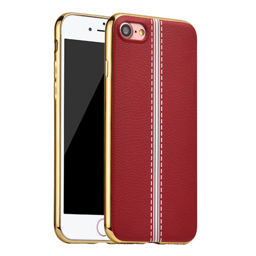 Image of   Apple iPhone 7 HOCO Premium TUP/læder Cover - Rød